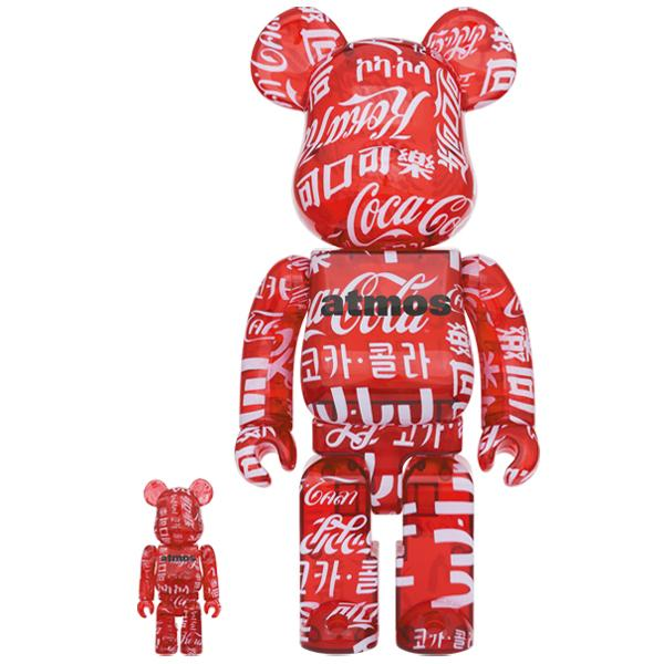 BE@RBRICK atmos × Coca-Cola CLEAR RED 100% & 400%