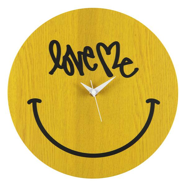 "Curtis Kulig WALL CLOCK ""SMILE"" made by KARIMOKU"