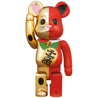 BE@RBRICK Manekineko Gold×Red 100% & 400%