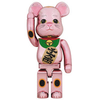 BE@RBRICK MANEKINEKO Peach Gold Plated 1000%