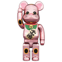 BE@RBRICK MANEKINEKO Peach Gold Plated 400%