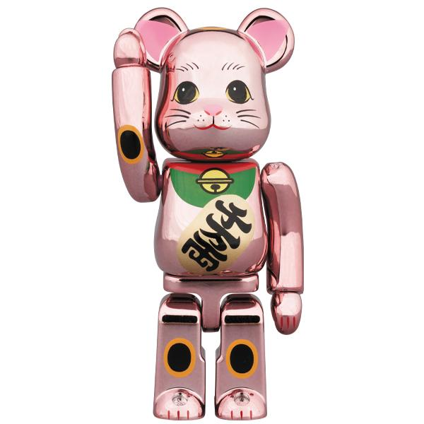 BE@RBRICK MANEKINEKO Peach Gold Plated 100%