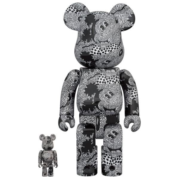 BE@RBRICK Keith Haring Mickey Mouse 100% & 400%