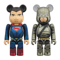 BE@RBRICK SUPERMAN & ARMORED BATMAN 2 PACK