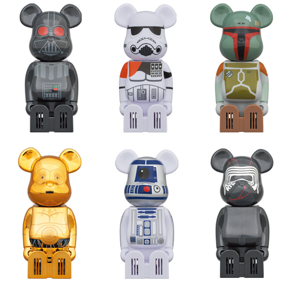 cleverin BE@RBRICK STAR WARS DARTH VADER/SANDTROOPER/BOBA FETT/ C-3PO/R2-D2/KYLO REN