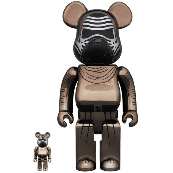 BE@RBRICK STAR WARS(TM) KYLO REN(TM) (The Force Awakens Ver.) Chrome Ver.100% & 400%