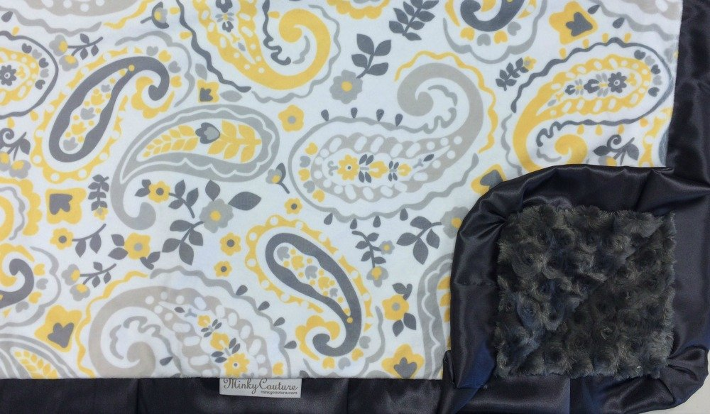 Paisley Yellow-Charcoal-Charcoal