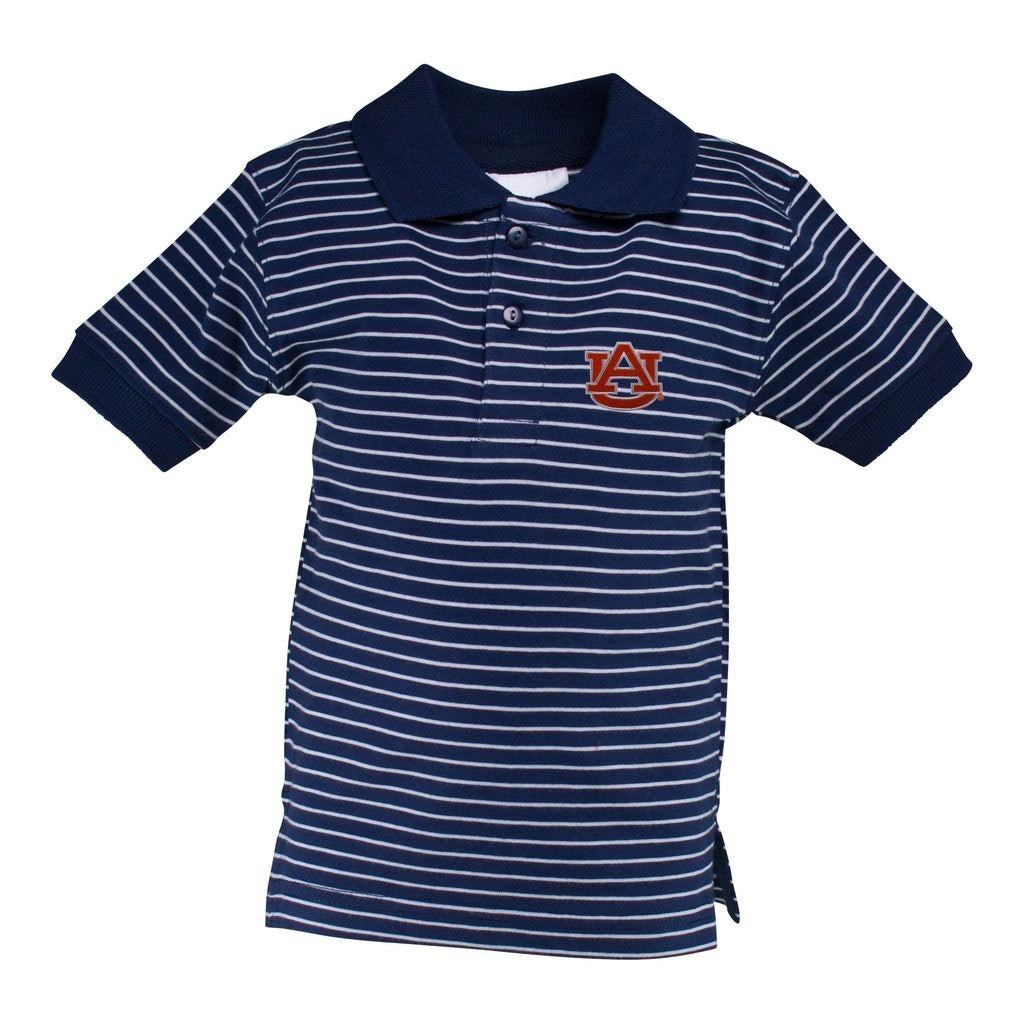 Auburn Stripe Jersey Golf Shirt