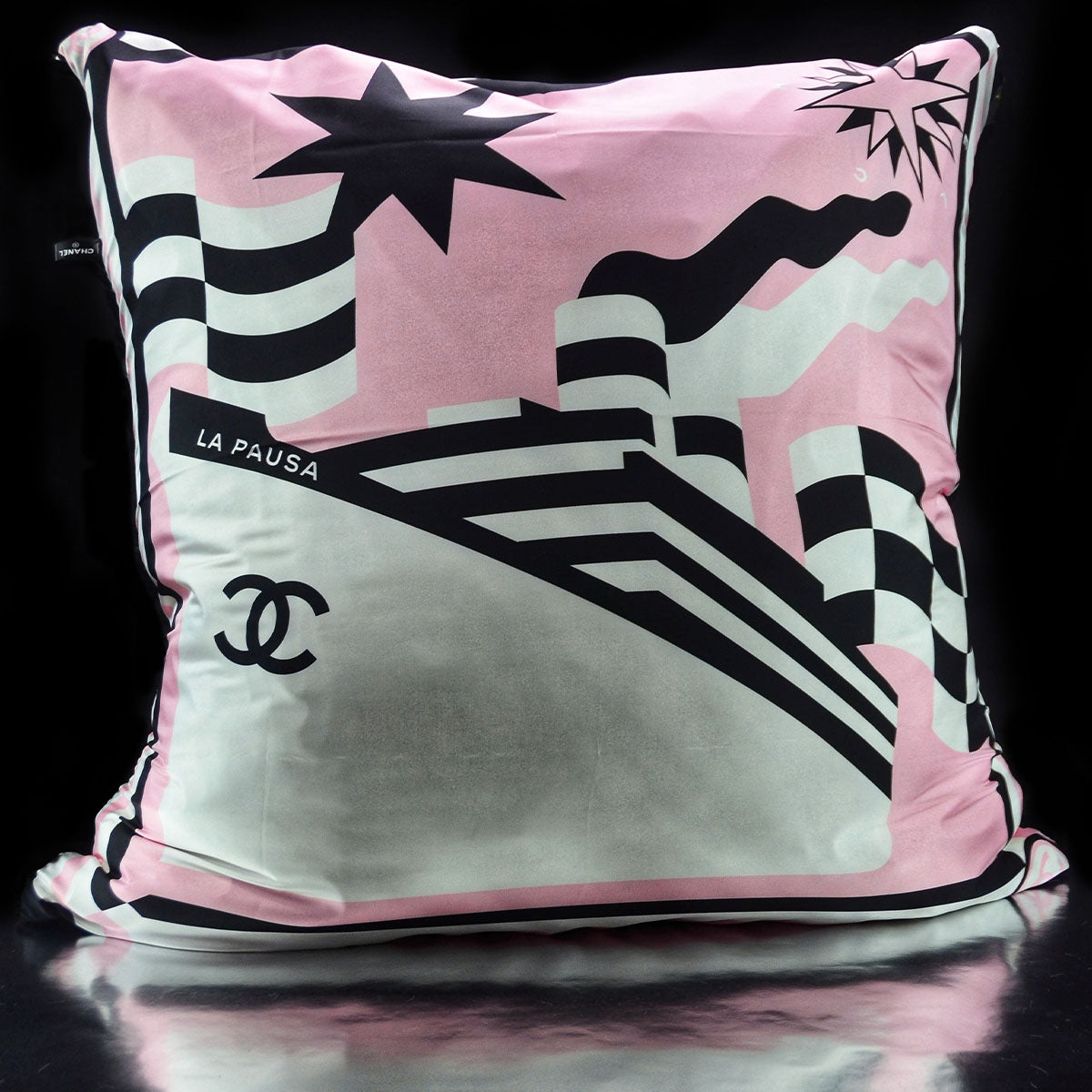 Luxe´Chanel Pink Resort Custom Pillow