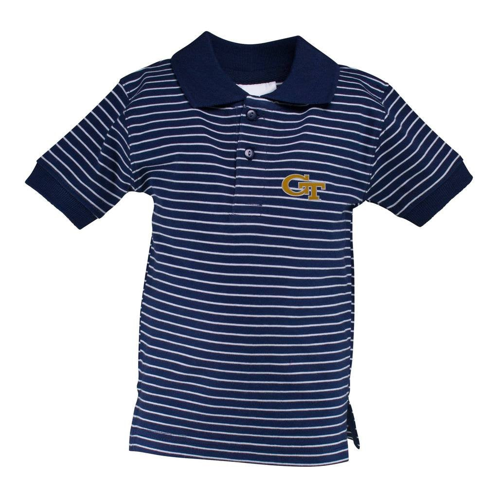 Georgia Tech Stripe Jersey Golf Shirt