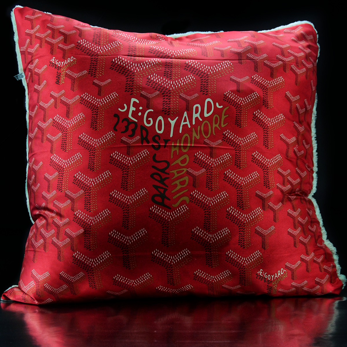 Luxe´Goyard Burgundy Custom Pillow