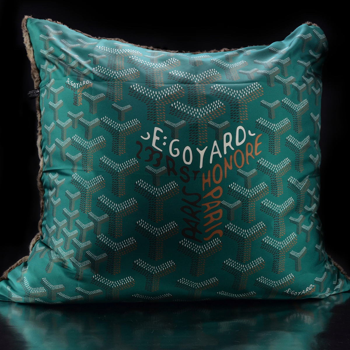 Luxe´Goyard Green Custom Pillow