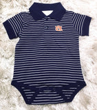 Auburn Stripe Jersey Golf Shirt Creeper
