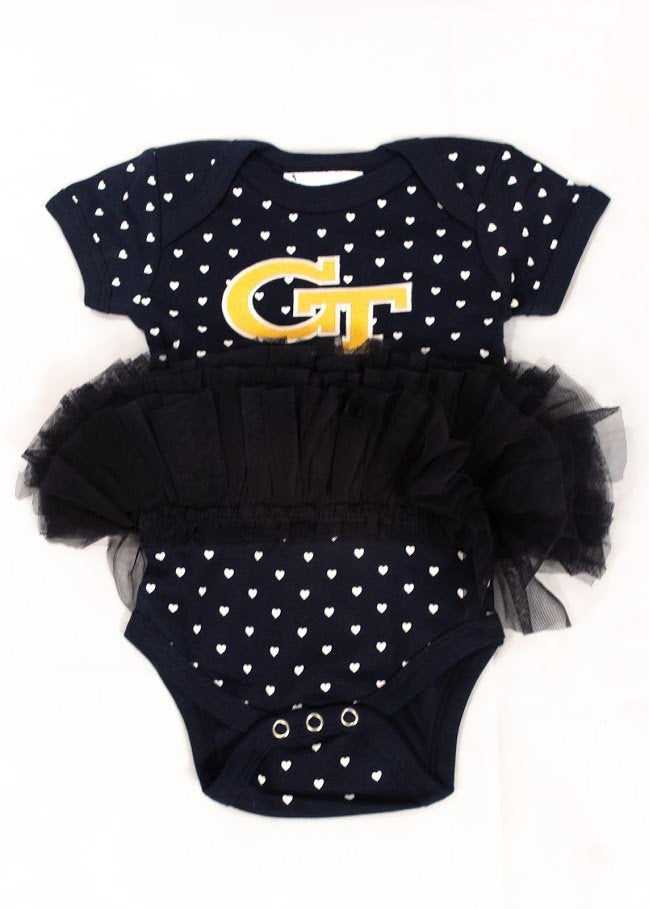 Georgia Tech Heart Tutu Creeper
