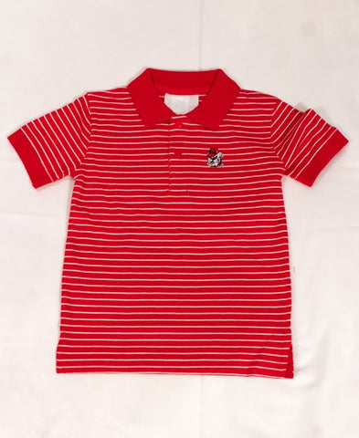 Georgia Bulldog Stripe Jersey Golf Shirt