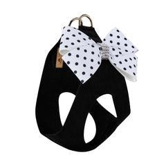 Susan Lanci Polka Dot Nouveau Bow Step in Harness Black