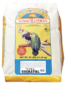 Sunseed Vita Cockatiel Fruit And Seed Mix- 25 lbs.