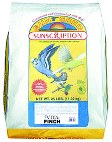 Sunseed Vita Formula Fruit And Veggies Seed Mix For Finches, Parrots, Conures, Cockatoos- 25 lbs.