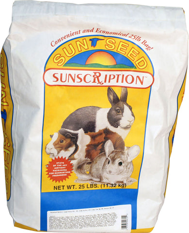 Sunseed Sun Fun Rabbit, Gerbil, Guinea Pig Formula- 25 pounds