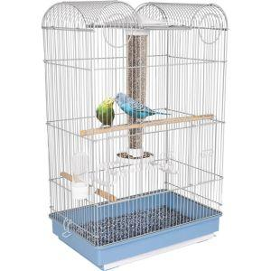 Ware - Bird/Sm An -Bird Central Parakeet/Finch Cage -Blue/White