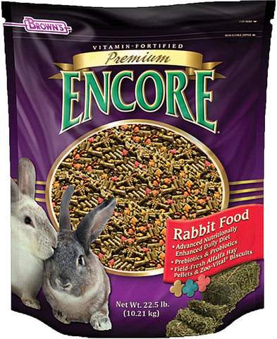 Brown's Encore Premium Rabbit Food - 22 lbs