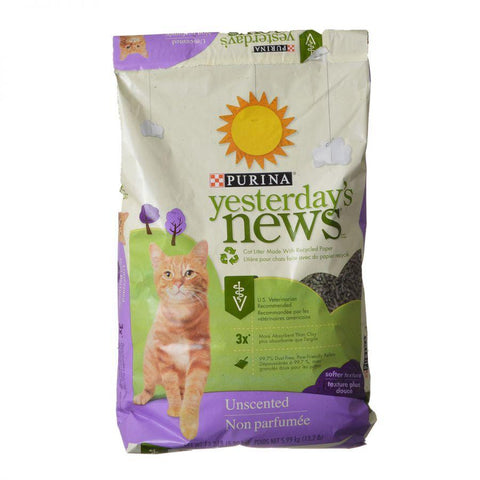 Image of Purina Yesterday's News Soft Texture Cat Litter - Unscented