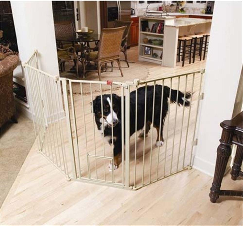 Carlson Flexi Extra-Tall Walk-Thru Gate with Pet Door