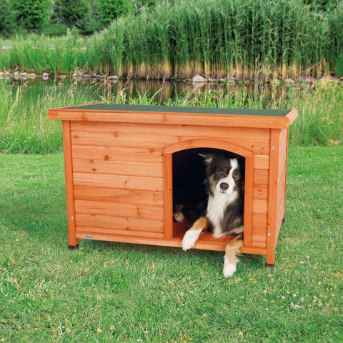 Trixie Pet Natura Flat Roof Club Dog House Brown