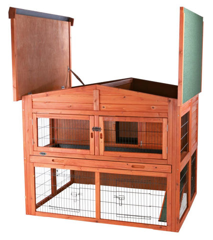 Image of Trixie Natura Rabbit Lodge Hutch with Attic XL