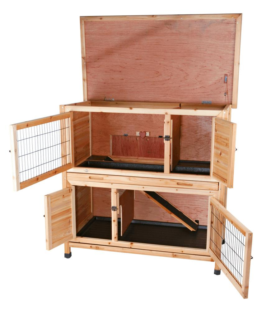 Trixie Pet Products 2 Story Rabbit Hutch with Insulation