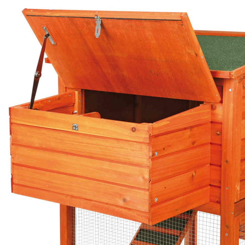 Image of Trixie Natura Chicken Coop Peaked Roof 2-Story with Run