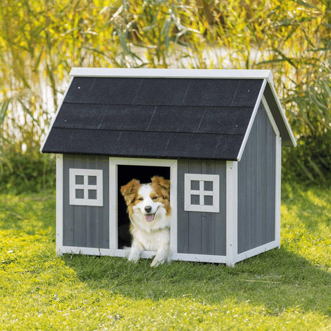 Image of Trixie Pet Natura Barn Style Dog House Gray