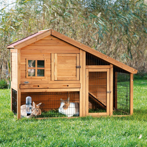 Image of Trixie Natura Rabbit Cabin with a View Hutch