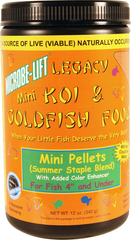 Microbe-Lift Mini Pellets Pond Food 12 oz