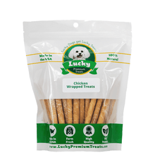 100% Natural Rawhide Chicken Wrapped Treats- Gluten-Free-For Small Dogs-25 Count