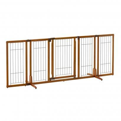 "Richell Wide Premium Plus Freestanding Pet Gate For Dogs 84"" Wide"