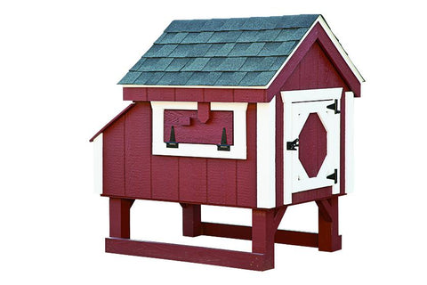 Amish A-Frame Style 3' x 3' Chicken Coop For 4 to 6 chickens