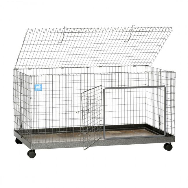 KW Cages Single Story Steel Bunny Villa, 42 x 24 x 22