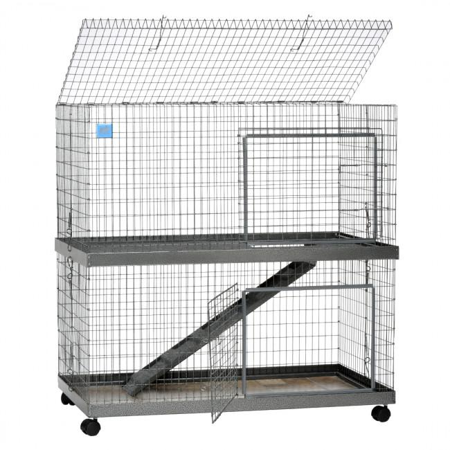 KW Cages Rabbit And Small Animal Metro Condo Cage, Two Story