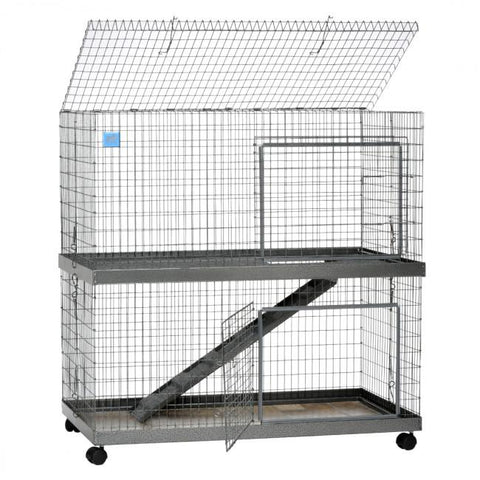 Image of KW Cages Rabbit And Small Animal Metro Condo Cage, Two Story