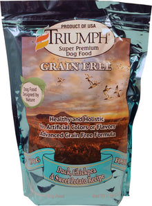 Triumph Grain Free Recipe Dog Food 3 Lb Duck