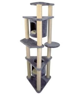 Iconic Pet - Four-Tier Deluxe Cat Tree Condo Furniture with Sisal Ropes and Multiple Posts
