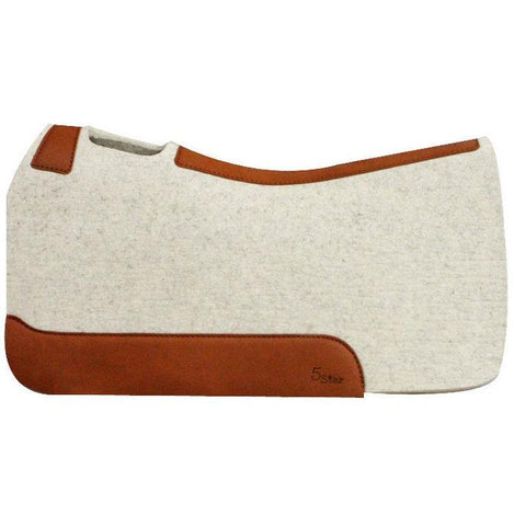 Barrel Racer 5 Star Saddle Pad (Natural), 1""