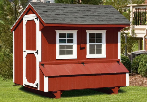 Amish Quaker Style 5'x 8' Chicken Coop For 20-24 chickens
