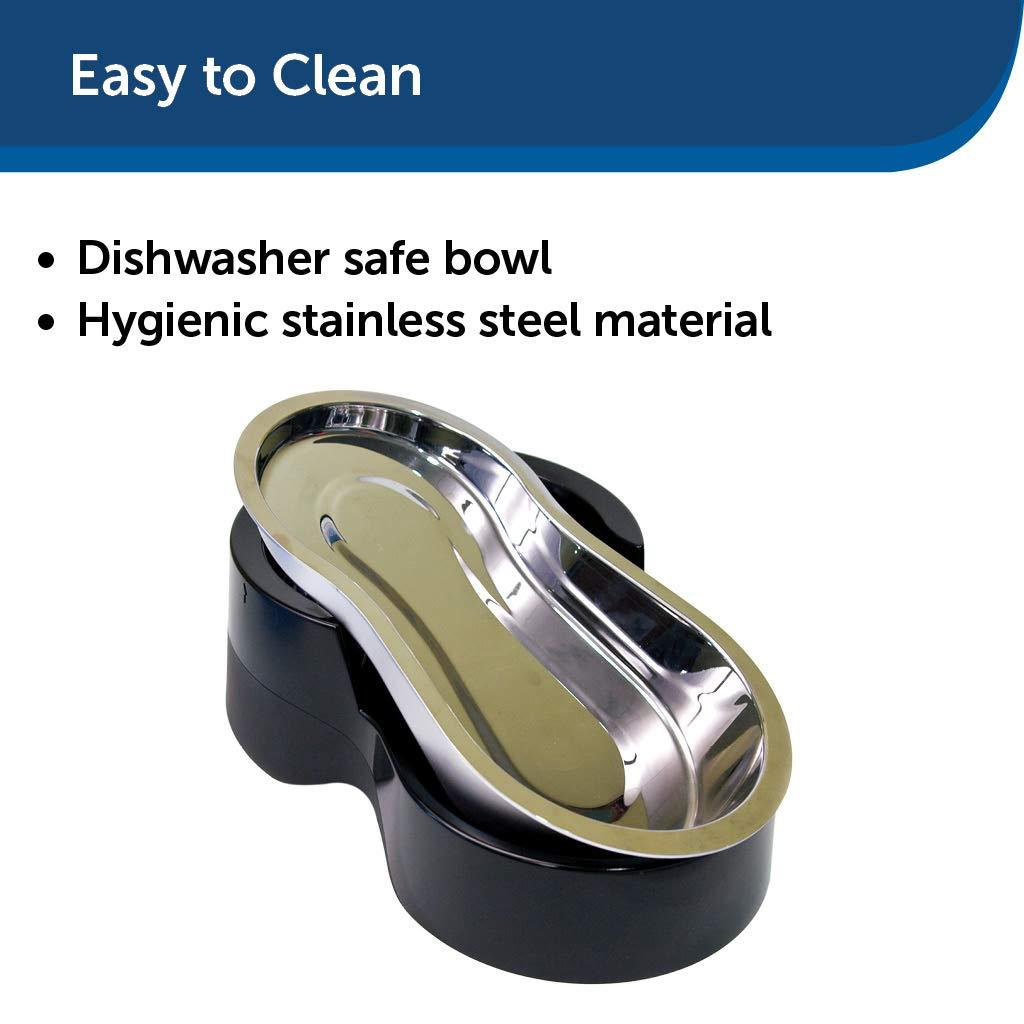PetSafe Healthy Pet Gravity Dog and Cat Food Station Stainless Steel Bowl Holds Dry Dog or Cat Food