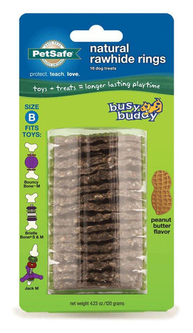 Image of PetSafe Peanut Butter Flavor Rings Dog Toy Treat Ring Refills for Busy Buddy Dog Toys