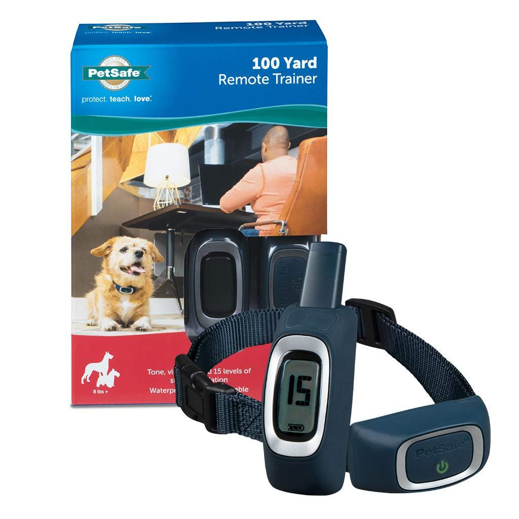 PetSafe Remote Trainer Waterproof Rechargeable Tone Vibration 15 Levels of Static Stimulation for Dogs Over 8 lb.