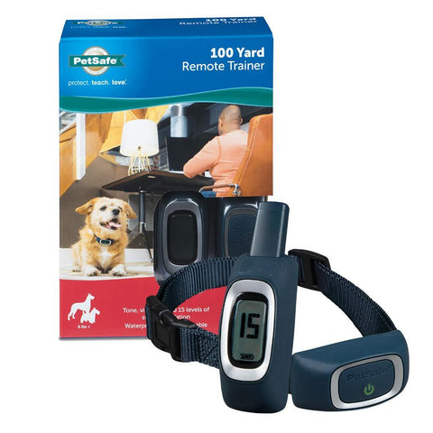 Image of PetSafe Remote Trainer Waterproof Rechargeable Tone Vibration 15 Levels of Static Stimulation for Dogs Over 8 lb.