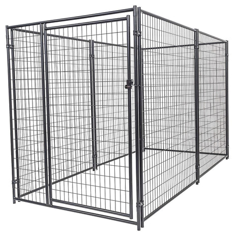 Image of Lucky Dog™  6'H x 5'W x 10'L Chain Link Pet Kennel CL 46150