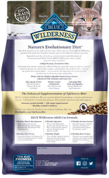 Blue Wilderness™ Nature's Evolutionary Diet Grain Free Chicken Adult Cat Food 12 Lbs